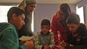 3 boys teacher & mom Hand in Hand Israel 2016 Al Jazeera