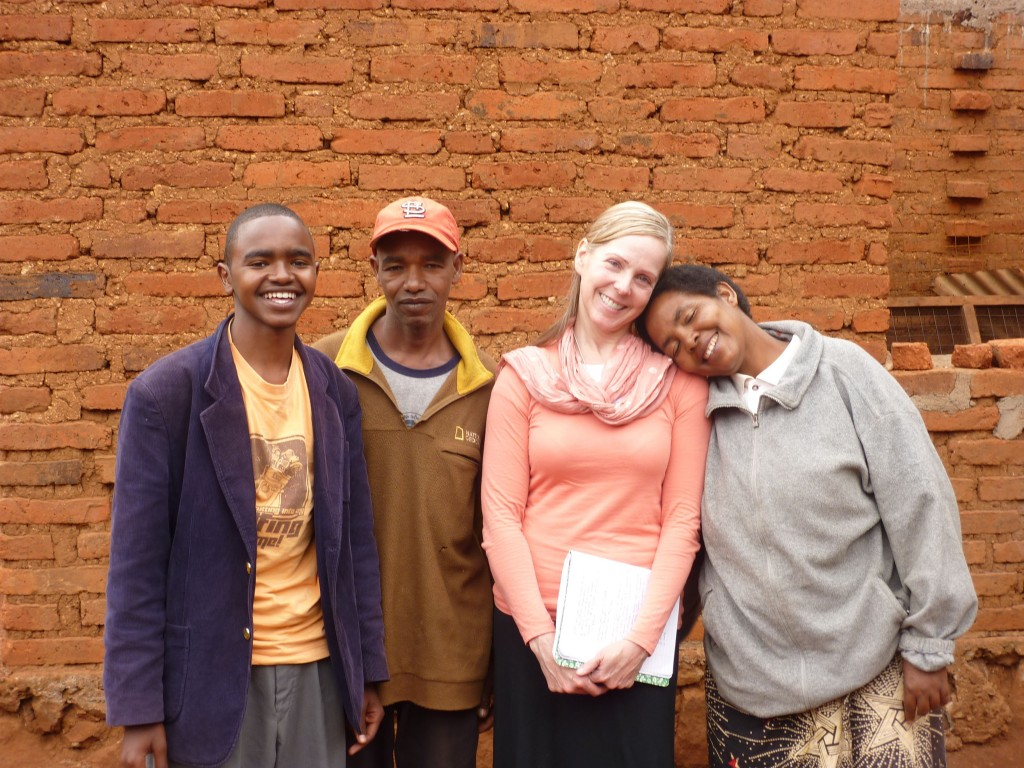 Medo Family-John, Medo, and Christina with Suzanne Skees-Tanzania 2011