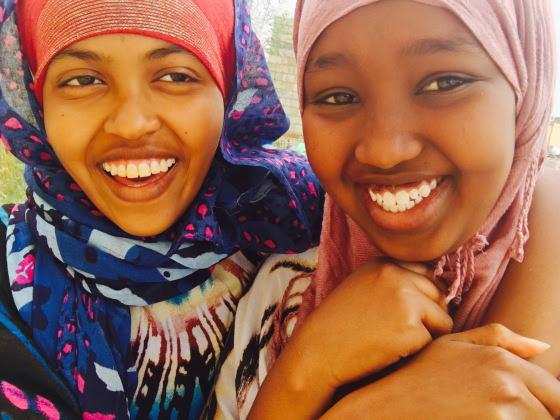 TSF students Fahima & friend 2016